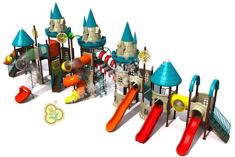 幼儿园户外儿童城堡滑梯