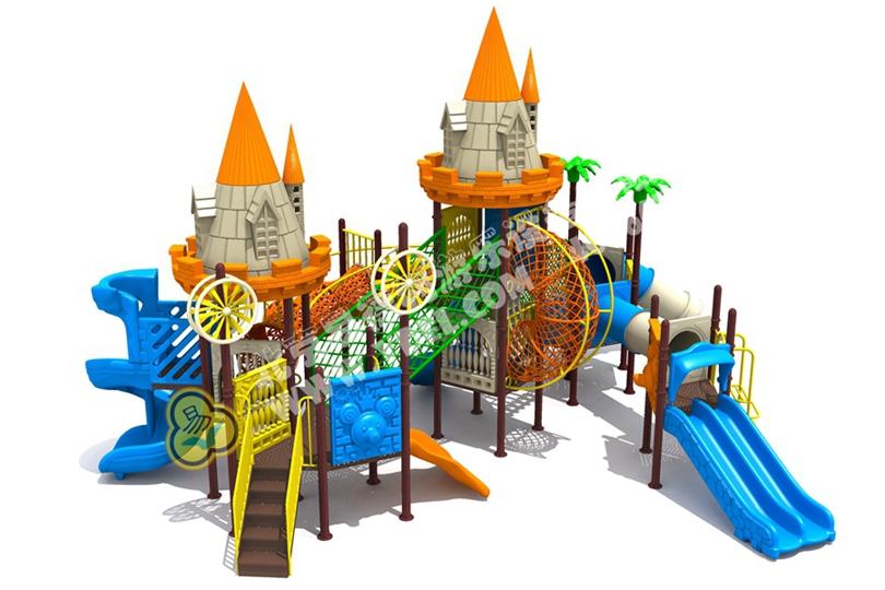 户外城堡滑梯儿童游乐设备