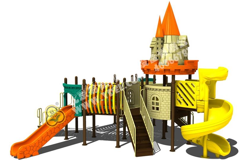 甘肃幼儿园户外儿童城堡滑梯