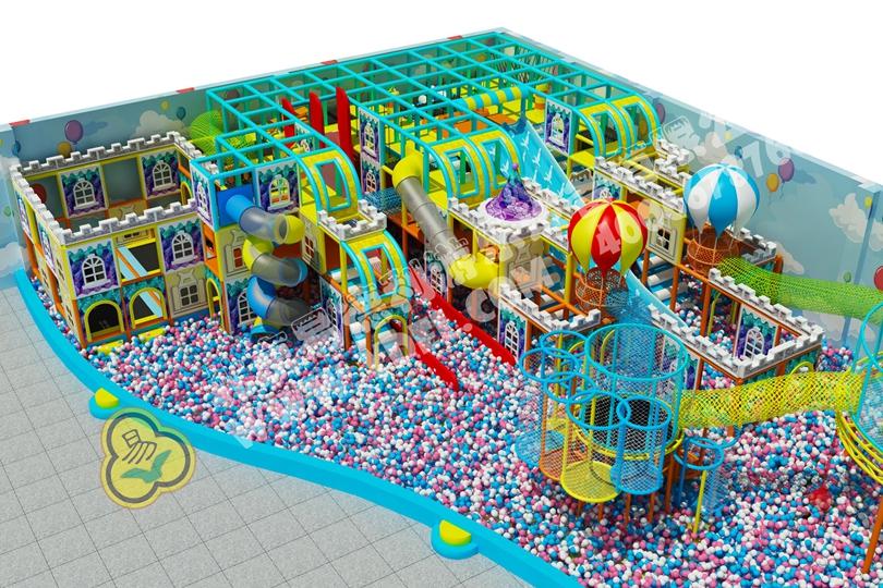四川城堡主题淘气堡游乐设备