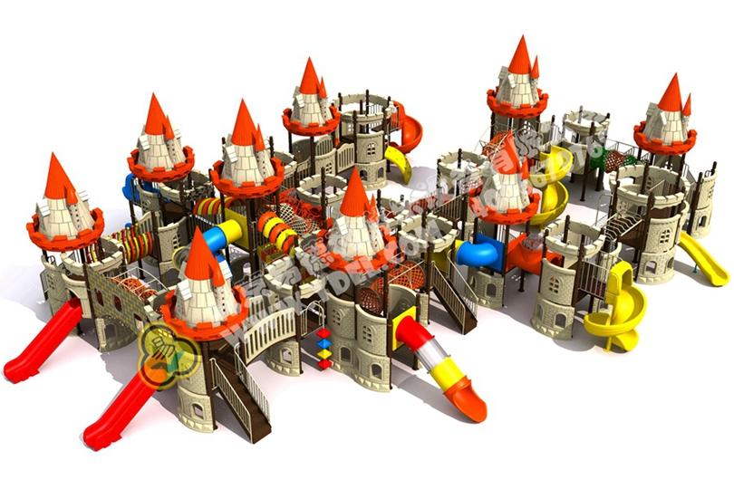 儿童户外城堡造型滑梯设备6