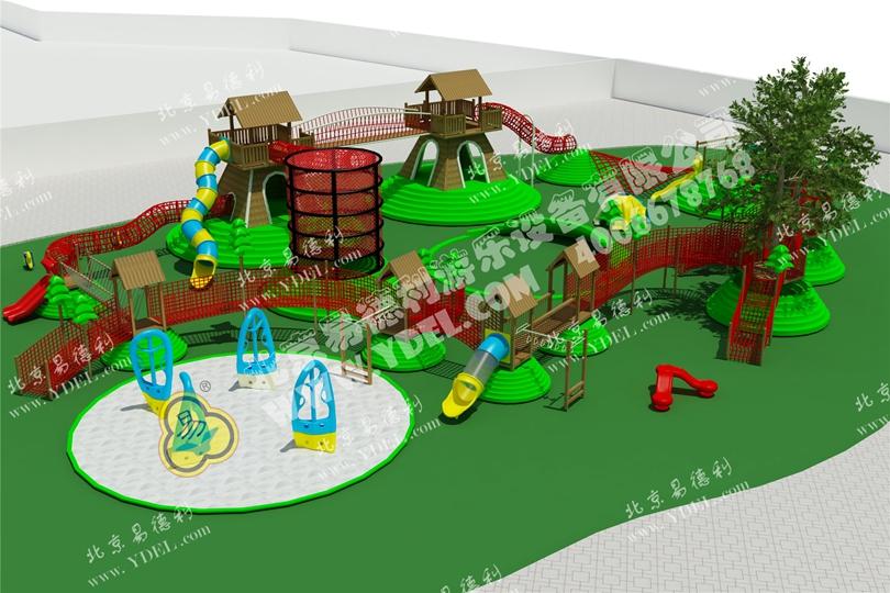 儿童户外钻网拓展游乐设施
