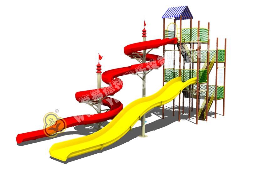 儿童户外水上滑梯十