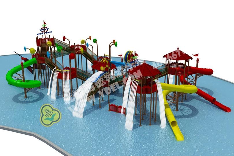 户外儿童水上乐园滑梯设备