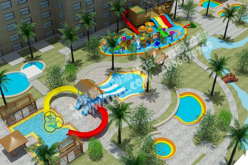 社区水上游乐园滑梯设备