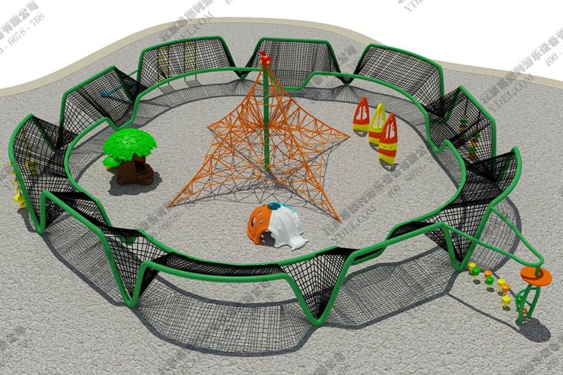 儿童户外攀爬网游乐设备