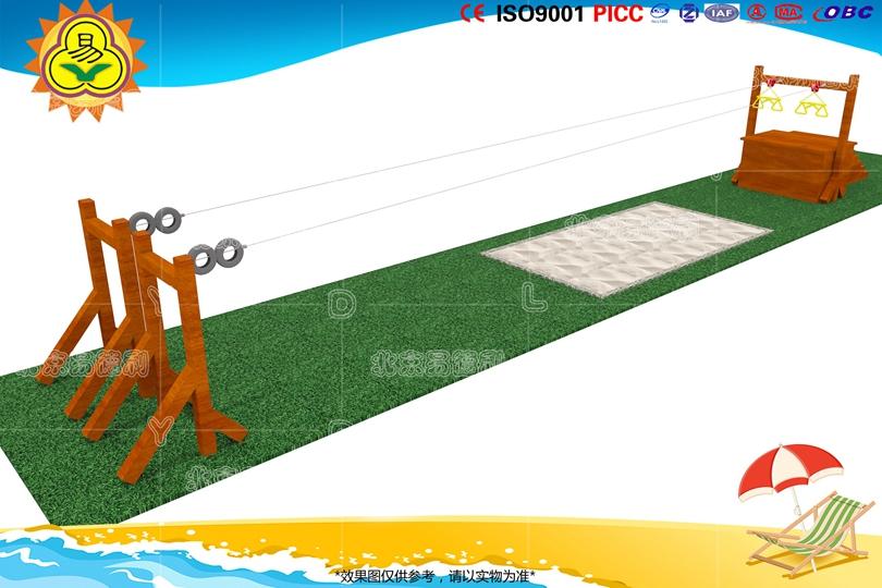 室外儿童滑索游乐设备