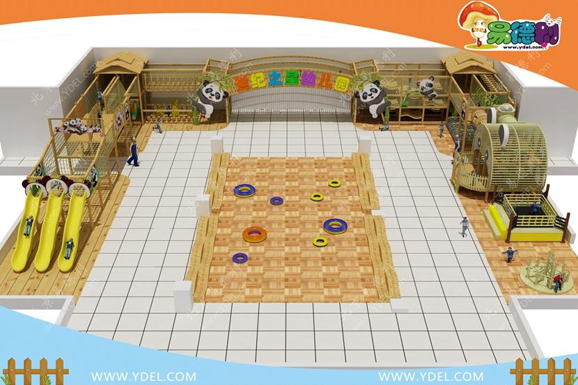 幼儿园户外爬网乐园整体规划