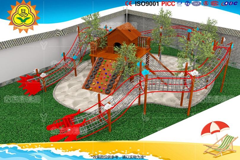 幼儿园户外钻网攀爬乐园设备