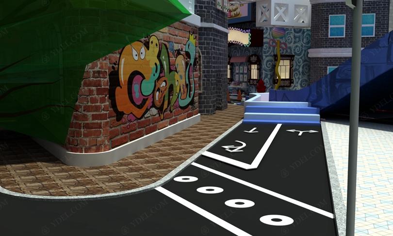 建筑风格淘气堡街道结构图