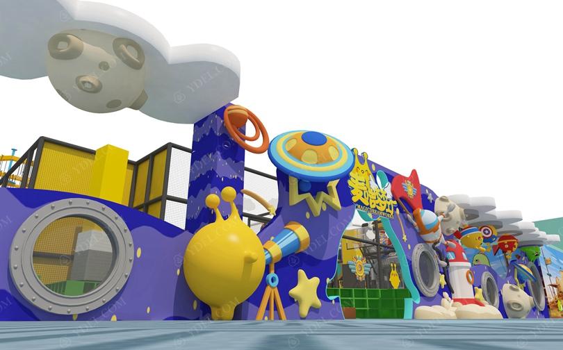 室内儿童淘气堡乐园外观设计