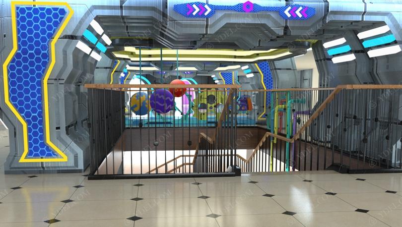 室内儿童淘气堡乐园分层设计