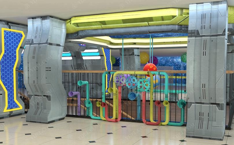 室内儿童淘气堡乐园机械风格