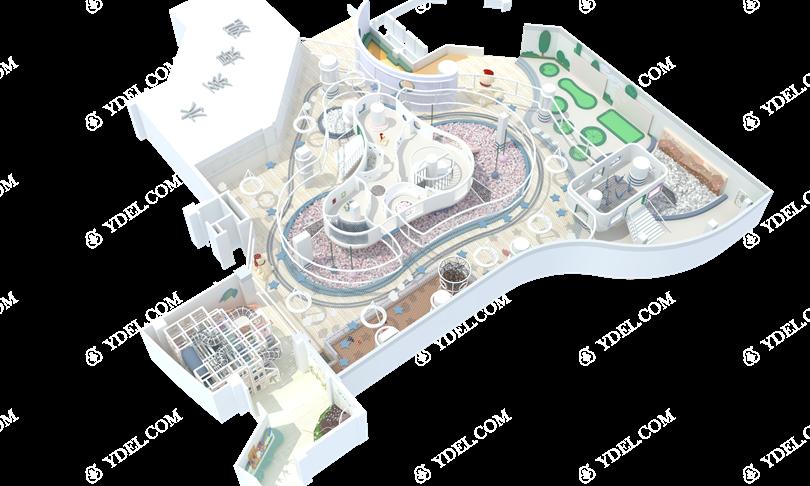室内乐园淘气堡侧视图