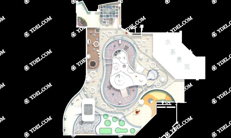 室内乐园淘气堡俯视图