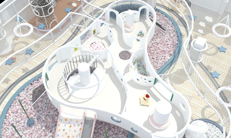 室内乐园淘气堡游戏区局部图