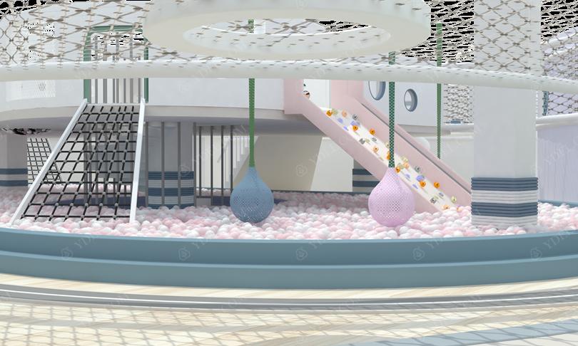 室内乐园淘气堡儿童滑梯