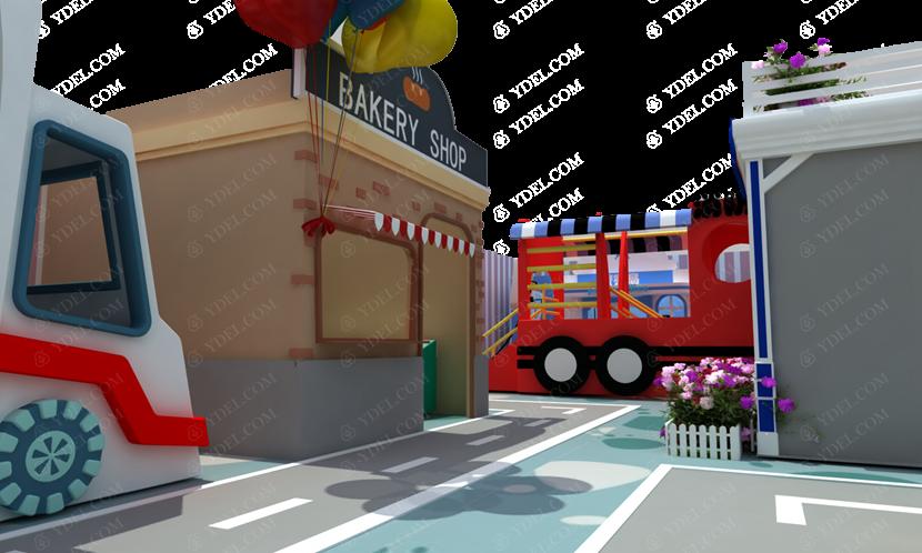 亲子餐厅淘气堡局部图片展示