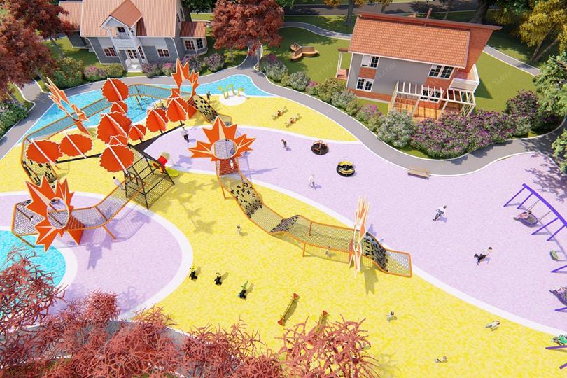 社区儿童攀爬网游乐设备