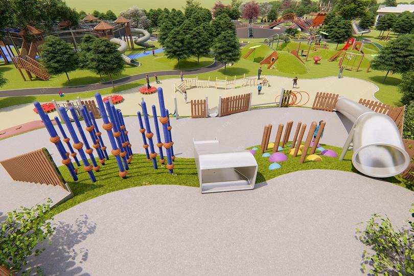 城市公园儿童游乐设备