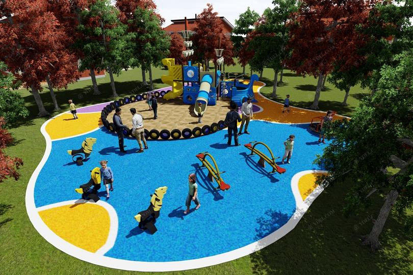 社区广场儿童游乐设备