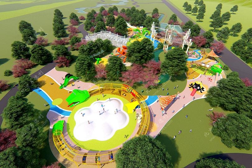 户外儿童游乐场整体规划