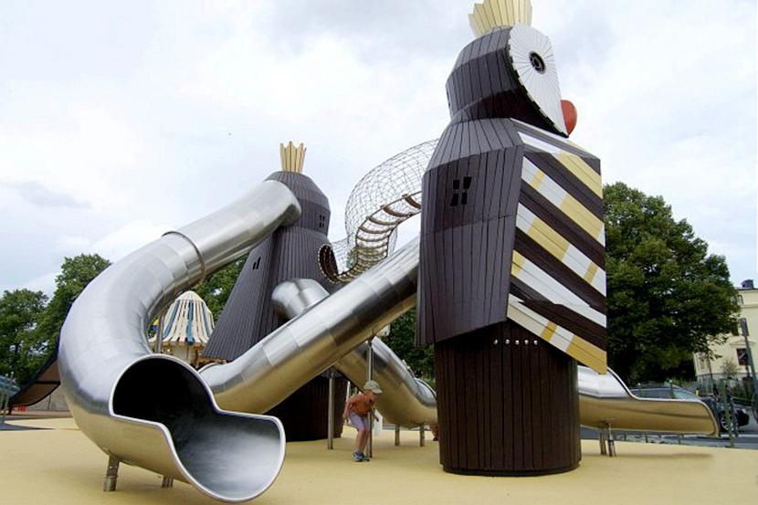 儿童游乐园不锈钢滑梯非标定制